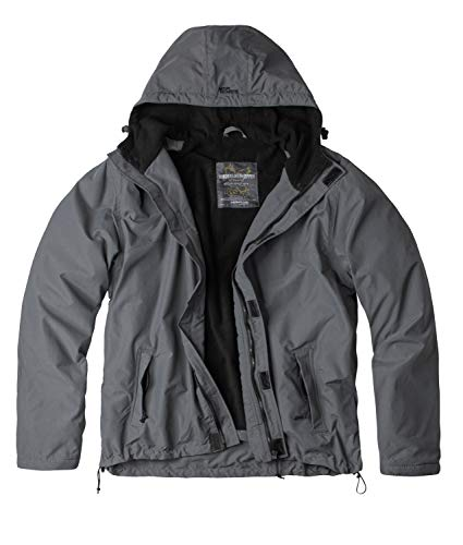 Surplus Windbreaker Zipper Outdoor Jacke, grau, 4XL