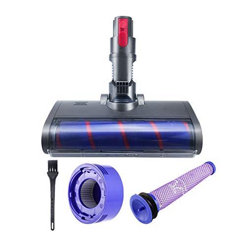 UKtrade® Repuesto de cabezal de cepillo eléctrico + filtro delantero y trasero compatible con Dyson-V7/V8