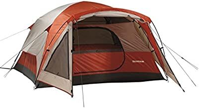 Field & Stream Tents for Camping 3 Person Wilderness Lodge - Dome Style in Burnt Orange