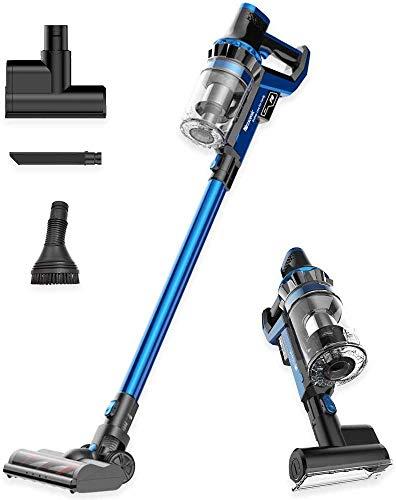 Proscenic P10 Limpiador inalámbrico, Potente Pantalla táctil LED, 4 Modos de succión Ajustables, aspiradora de Mano 4 en 1, Base de Carga, Larga duración, Mini Herramienta motorizada, Azul