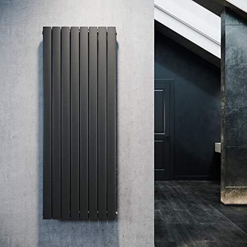 ELEGANT Design Flach Heizkörper 1600 x 616 mm Antrazit Badheizkörper Doppellagig Heizkoerper Vertikal Paneelheizkörper