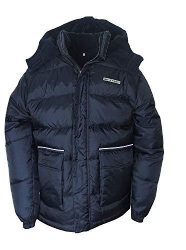 Kinder Parka Daunenjacke Winterjacke Jungen Outdoor Kapuzen Daunen Jacke (Blau, 140)