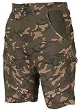 Fox Camo Shorts - Kurze Angelhose für Karpfenangler, Größe:L