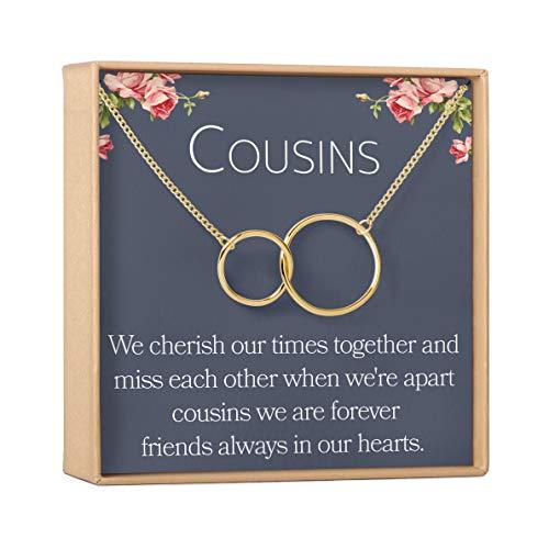 cousins jewelries Dear Ava Cousins Necklace: Cousins Gift, Cousins Jewelry, Interlocking Circles Silver, 2 Interlocking Circles (gold-plated-brass, NA)