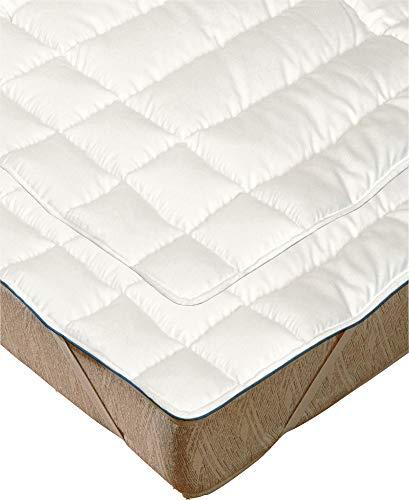 Irisette Matratzenauflage 2er-Pack Schafschurwolle Größe 90x200 cm