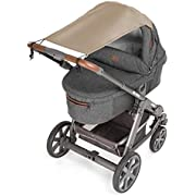 Zamboo Universal Baby Sunshade for Pram, Pushchair, Buggy and Carrycot / Stroller Sun Sail with UV Protection 50+ and up and down slide function - Beige