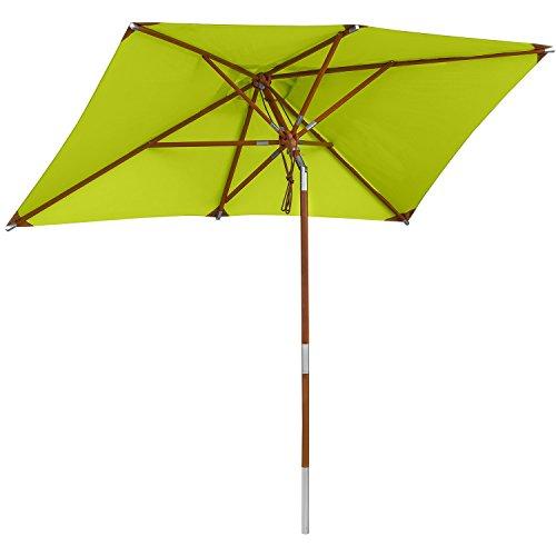 anndora Sonnenschirm Knicker 1,5 x 2,5 m eckig - mit Winddach Limette Apfelgrün