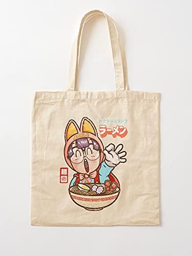 Générique Eat Dr Arale Cute Manga Noodle Slump Ramen Japan   Sacs d'épicerie de Toile Sacs fourre-Tout avec poignées Sacs à provisions en Coton Durable