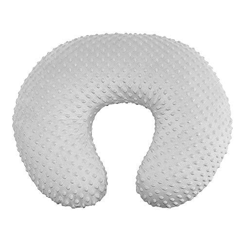 Owlowla Funda de almohada elástica de lactancia para bebé, funda de almohada de lactancia, gris