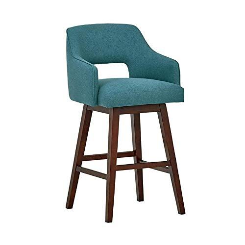NAN liang Tabouret haut moderne Chaise de bar en bois massif Tabouret de bar créatif et décontracté Chaise de bar café élégante avec dossier Chaises de salle à manger, 3 couleurs en option