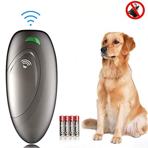 APoony Dispositivos Antiladridos, Ultrasónico Adiestramiento para Perros, 2 en 1 Mano Entrenamiento de Perros y Control De Ladridos, Antiladridos Perros Disuasorio de Corteza para Perro ultrasónico
