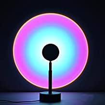 Sunset Lamp Projection Night Light Projector LED Light Background 180 Degree Rotation USB Romantic Rainbow Lamp for Home P...