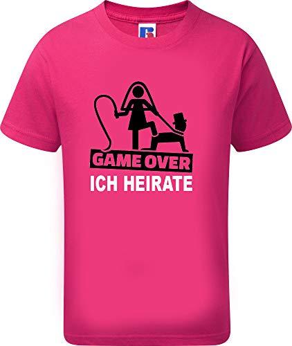 Junggesellenabschied T-Shirt | JGA Herren T-Shirt | Game Over |Sprücheshirt | Junggesellenabschied | Bräutigam | Team Bräutigam | Größe S-XXXL | Hochzeit (L, Pink (Ich Heirate))