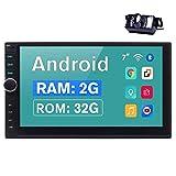 EINCAR 2 DIN Car Stereo Bluetooth con 7 '' en el Tablero de Doble DIN Jefe Unidad de Android 9.0 Radio de Coche de navegación GPS con cámara de visión Posterior 2G RAM + 32G ROM, Soporte 4G teléfono