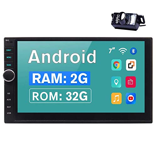 EINCAR 2 Din Car Stereo wih Bluetooth Android 10.0 Head Unit 7 inch in Dash Double Din Car Radio GPS Navigation 2G RAM+32G ROM with Rear View Camera Support 4G WiFi Phone Mirror SWC 1080P Video
