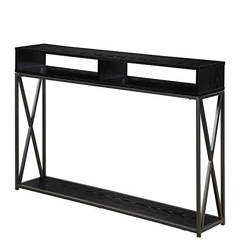 Convenience Concepts Tucson Deluxe 2 Tier Console Table, Black