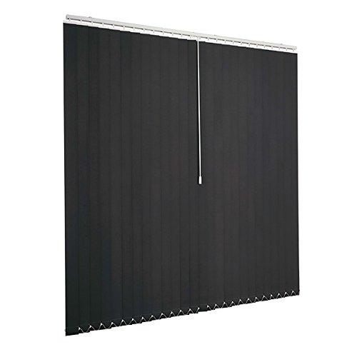 Ventanara Lamellenvorhang anthrazit Vertikaljalousie 89mm inklusive Montagematerial 200 x 250 cm