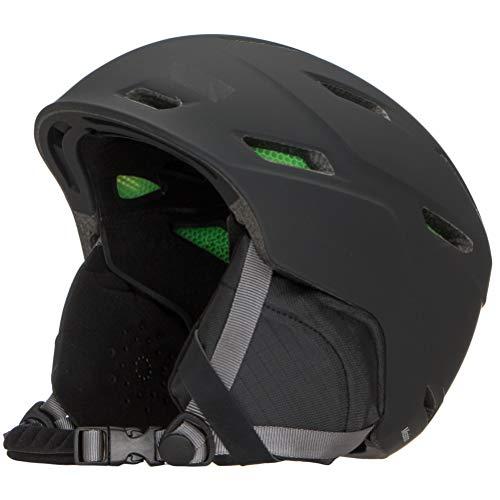 Smith Optics Mission Adult Ski Snowmobile Helmet (Matte Black, XLarge)