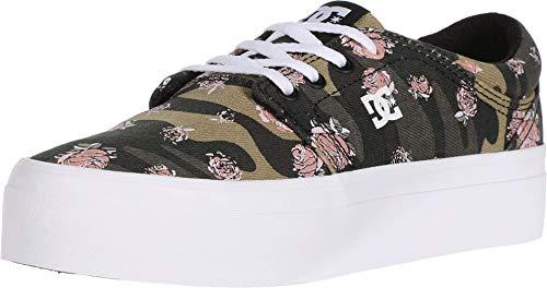 DC Women's Trase Platform TX SE Skate Shoe, Camo White, 5 B M US