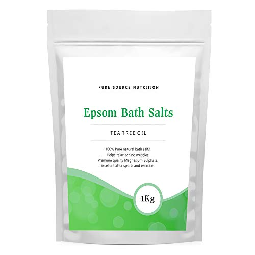 Epsom Salt For Bath 1KG / 1000G Of Pure Magnesium Used For Muscle Recovery And Relaxation 9 Scents Available (Tea Tree Oil)