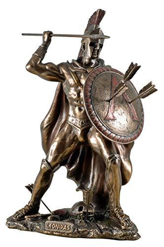 Veronese 708-6932 Figur kämpfender Leonidas Feldherr Skulptur Perser Spartiaten Xerxes