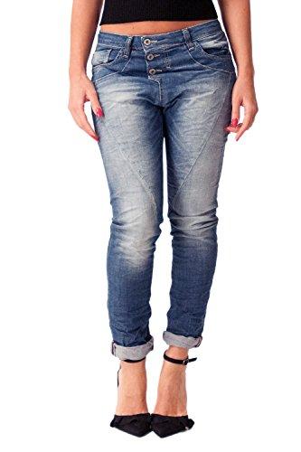 Please P78 Damen Jeans Baggy Denim Blau Gr. Large, denim