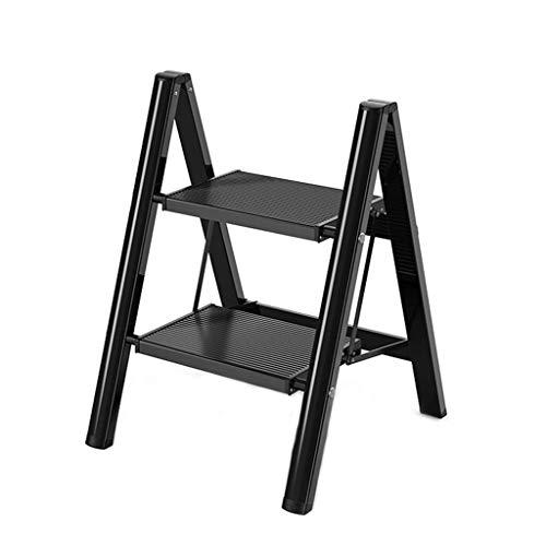 DNSJB Escalera plegable portátil de aluminio para el hogar con plataforma ligera para el hogar y la cocina, taburete con pedal ancho, equipo de herramientas para interiores y exteriores