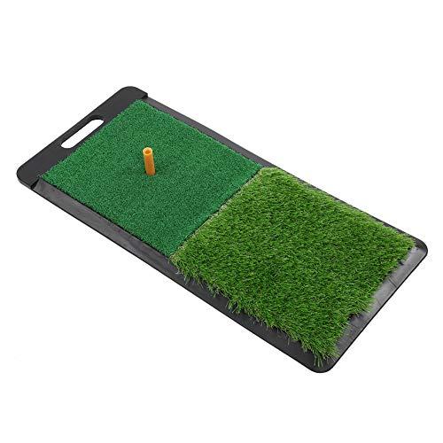 SANON Golf-Übungsmatte Golf-Schlagmatte Indoor-Outdoor-Golfschwung-Übungs-Grasmatten mit Gummi-Golf-Tee für Indoor & Outdoor