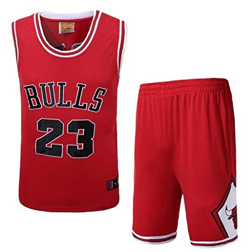 WXR Camiseta de Hombre Camiseta para Hombre No.23 Pantalones Cortos de Baloncesto Camisetas de Verano Uniforme de Baloncesto Top y Short Traje Corto (Size : M)
