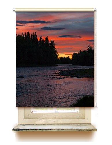 gardinen-for-life Rollo Skymning - Sichtschutz mit Motiv, Seitenzugrollo Seitenzug Klemmrollo - Versch. Größen (45 cm x 125 cm)