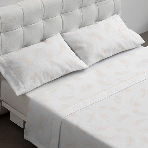 Burrito Blanco - Juego de sábanas Atelier Casa 395 para cama de 135x190/200 cm, color blanco
