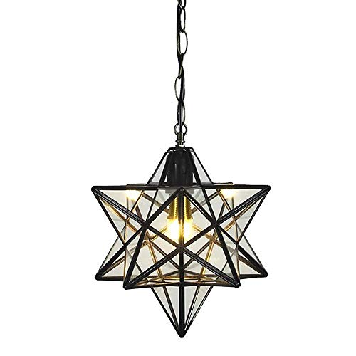 MM Negro Estrellas Cristal Focos para el techo Iluminación Interior Loft Colgante Luz para Corredor Pasillo Puerta Bar Dormitorio Restaurante Sala