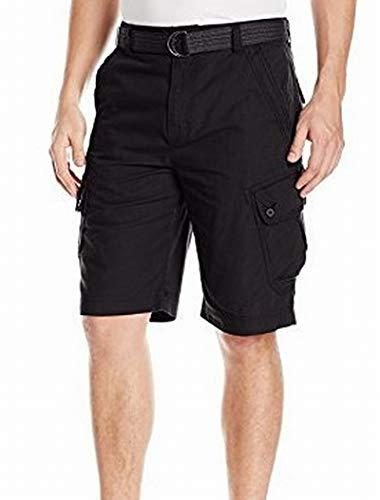 Calvin Klein Jeans Men's Belted Ripstop Short, Midnight Navy, 34W