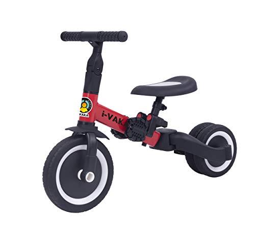 All Road - Ivaka - 4in1 BALANCE BIKE / BIKE / TRIKE - Red - Easily Converts No Tools Needed - Adjustable seat & Handlebars - Age 1-5 Years