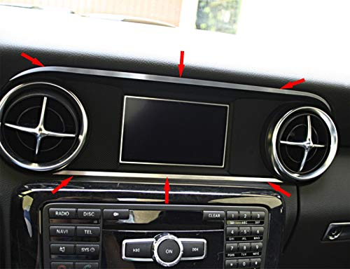 2-tlg. Zierleisten - Set über und unter dem Display Mercedes SLK 172 aus Aluminium R172 FL 280 200 350 AMG55 AMG45