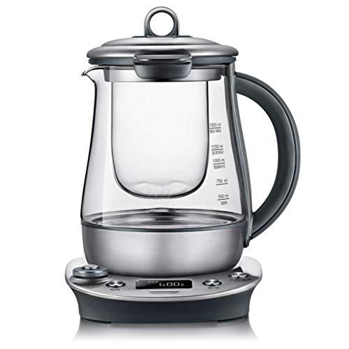 GSF Kettle Electric Water Kettle Glass Kettle,Multi-Function Tea Maker,Health Pot Automatic Multi-Function Thickening Glass Kettle Teapot Black Teapot Tea Pot