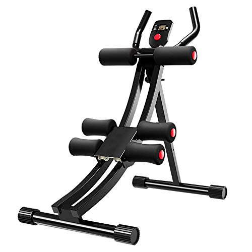 LIDAK Fitness Core & Abdominal Trainers,AB Workout Machine, Height Adjustable Home Ab Trainer with with LCD Monitor,Foldable Home Gym Strength Training Equipment.