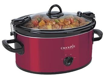 Crock-Pot 6-Quart Cook & Carry Oval Manual Portable Slow Cooker Red - SCCPVL600-R