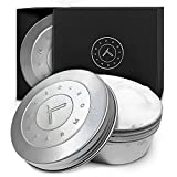 Handmade Natural Organic Shave Soap - Large 7oz Tin Shaving Soap, Shave Soap For Men With Dry Sensitive Skin, Made With Olive Oil, Coconut Oil, Palm Oil, Shea Butter, Beeswax, Creamy Lather, Best Gift