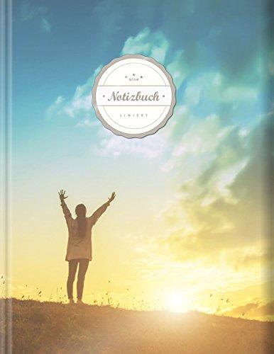 """Liniertes Notizbuch (©Star, A4, 156 Seiten, Softcover)    Mit Register + Doppelrand + Lineatur 27    Dickes Notizbuch, Fester Einband, Deutschheft, Schreibheft, Schulheft, Tagebuch, """"Achtsamkeit"""""""