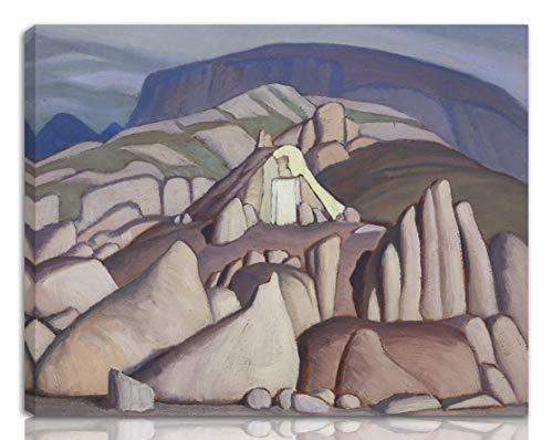 Lawren Harris Gedehnt Giclee Auf Leinwand drucken-Berühmte Gemälde Kunst Poster-Reproduktion Wand Dekoration Fertig zum Aufhängen(Lawren Stewart Eskimo Harris Zelt Pangning Baffin Island Ii) #NK