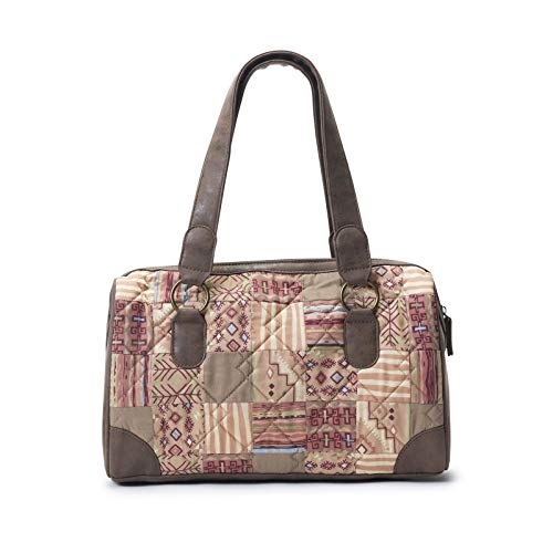 Donna Sharp Tess Medium Size Handbag in Sandstone - Great for Everyday and Special Outings
