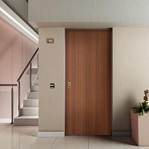 Porta blindata ingresso Argo 900x2100 dx colore Tanganika/Bianco Di.Bi. Porte Blindate srl