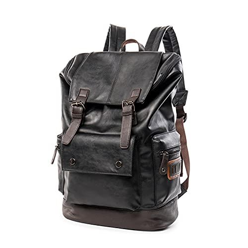 Bolso portátil de Mochila de Viaje Grande (Color : Black, tamaño : 18.3x11.7x6.6 Inch)