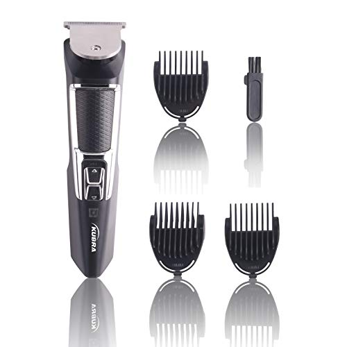 Kubra KB-2026 Rechargeable Cordless 45 Minutes Hair and Beard Trimmer For Men (Black)