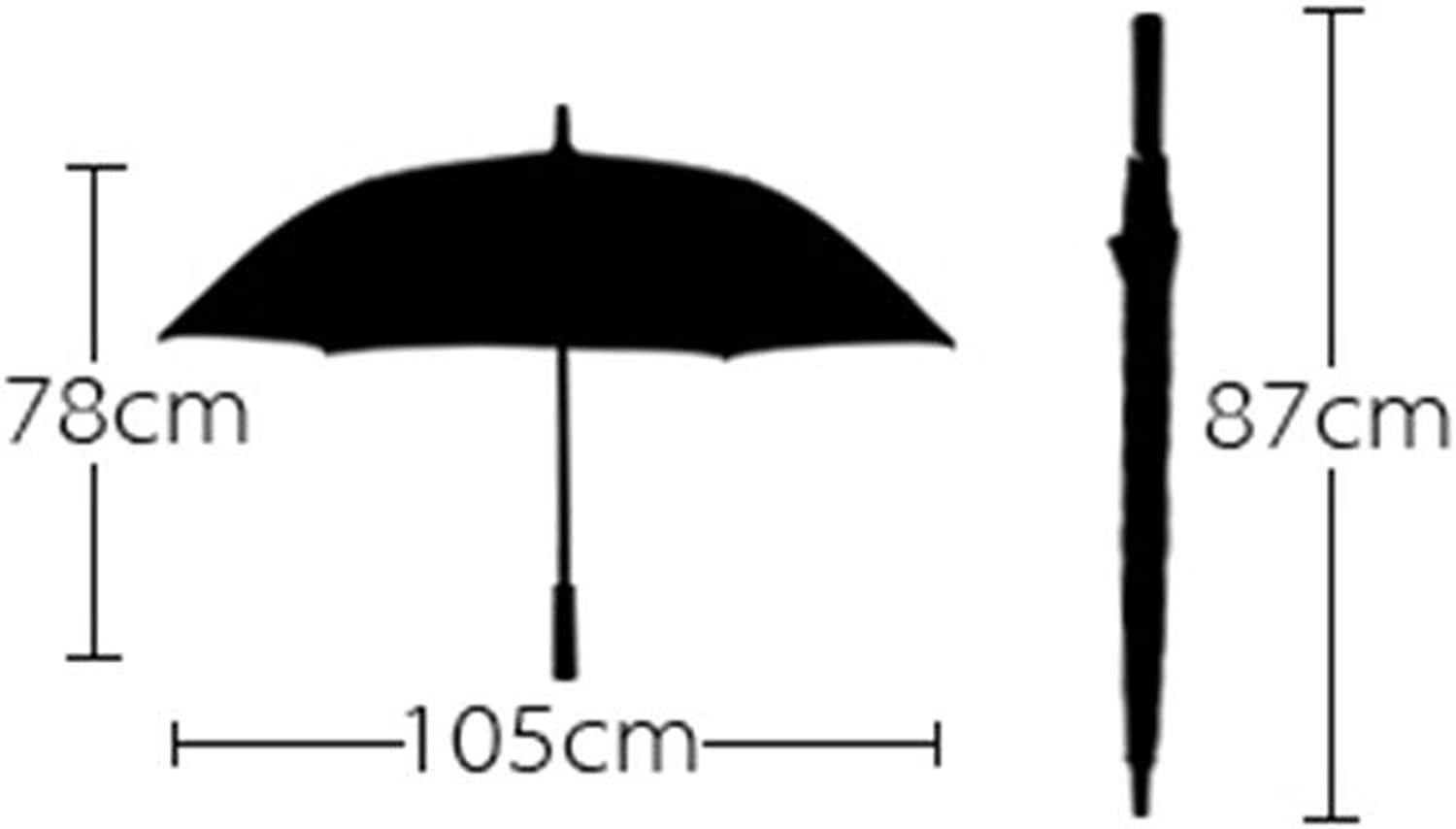 Umbrella, Double Long Handle Big Umbrella Commerce Anti-Uv Windproof Sun Predection Rain Foldable, Non-Slip Handle Windproof Umbrella, ZDS