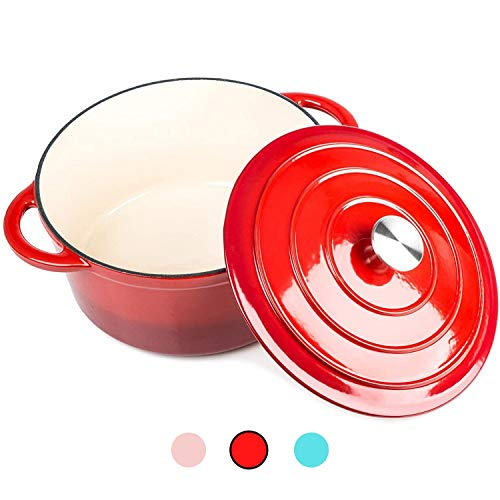 Round Casserole Dish - Cast Iron Ceramic Induction for sale  Delivered anywhere in UK