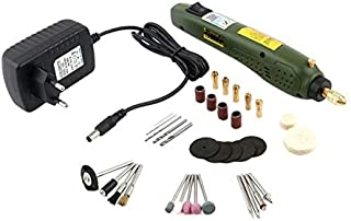Mini Rotary Tool Kit With 35pcs Random Color Accessories Set For Wood Jewel Stone Small Crafts Cutting Drilling Grinding E...