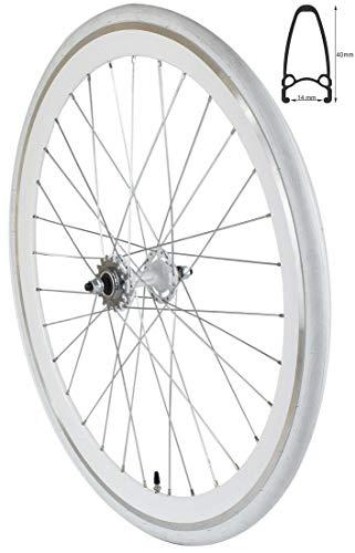 Redondo 28 Zoll Hinterrad Singlespeed Fixie Laufrad Felge Weiß + Reifen