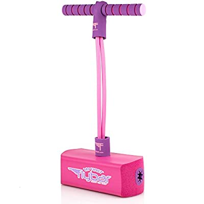 Flybar My First Foam Pogo Jumper for Kids Fun and Safe Pogo Stick for Toddlers, Durable Foam and Bungee Jumper for Ages 3 and up, Supports up to 250lbs (Pink)